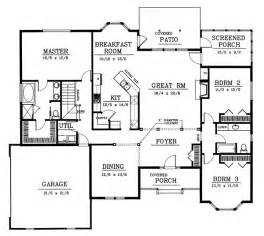 2200 Square Foot House Plans Traditional Style House Plans 2200 Square Foot Home 1