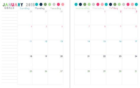 sherbert cafe printable calendar