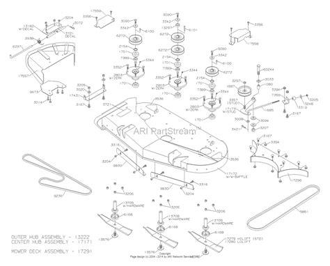 44 parts diagram dixon ram 44 2004 parts diagram for mower deck 44 quot