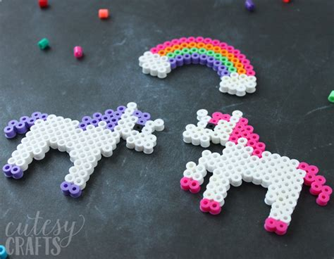 perler unicorn unicorn craft perler bead patterns cutesy crafts