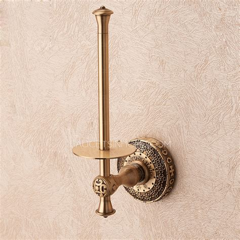 Free Standing Toilet Paper Holder by Vintage Antique Bronze Toilet Paper Roll Holder Freestanding