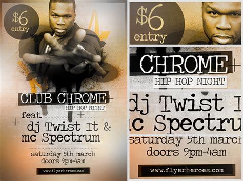 clubchrome free hip hop flyer template flyerheroes