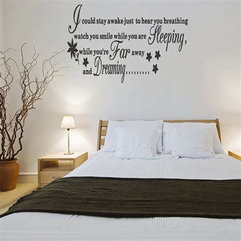 wall decoration ideas for bedrooms bedroom wall decal bukit
