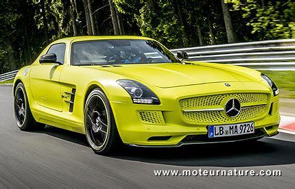 la plus rapide électrique au nurburgring, la mercedes sls