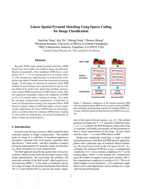 pattern recognition and classification pdf linear spatial pyramid matching using sparse coding for
