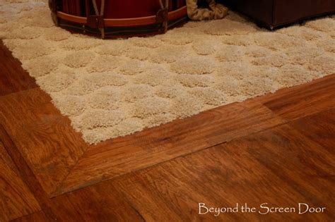 Flooring And Beyond by Beyond The Screen Door Inset Carpet In Wood Floor For