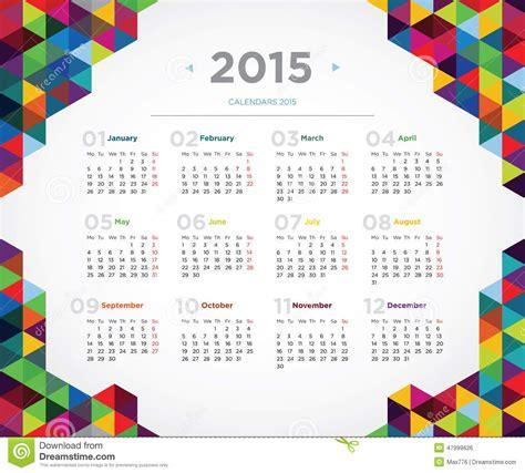 calendar design vector 2015 vector template design calendar 2015 stock vector image