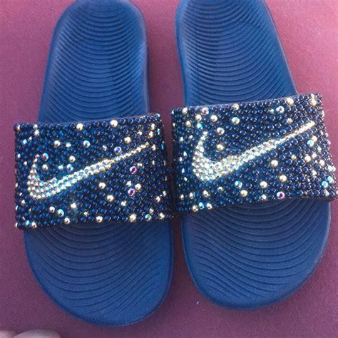 bling house slippers 63 nike shoes nike slides bling bling from shannon