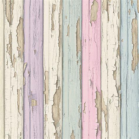 Wallpaper 10m Bunga Shabby pastel purple pink green blue timber wood look wallpaper shabby ebay