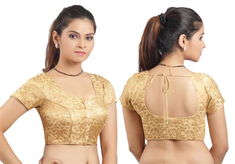 boat neck blouse cutting in kannada buy golden ready made stitched padded printed blouse online