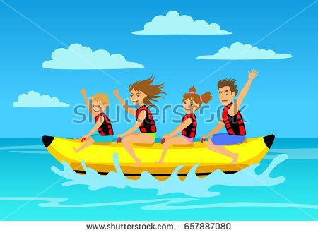 banana boat ride cartoon quot inflatable ride quot stock images royalty free images