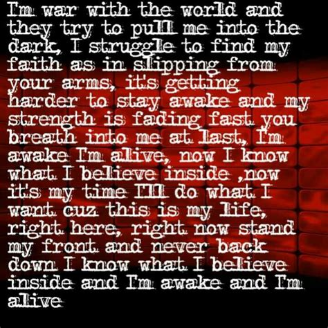 awake and alive skillet awake and alive lyrics pinterest