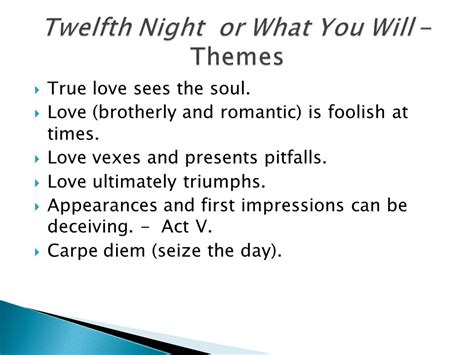 impressions themes come true lesson objectives twelfth night week ppt download