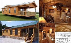 400 sq ft costum log cabin on wheels home design