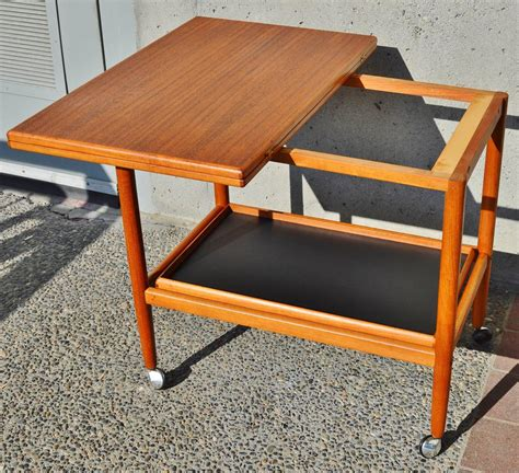 Expanding Tray Table by Clever Expanding Teak Cart By Grete Jalk For Poul Jeppesen