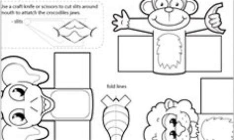 card finger puppet template 67 the monkey and crocodile story coloring page 1 the