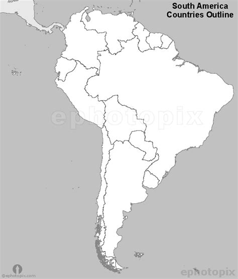 america map black and white outline map of the countries of south america vector car