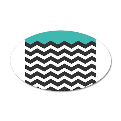 chevron wall sticker turquoise black and white chevron wall sticker by admin cp49789583