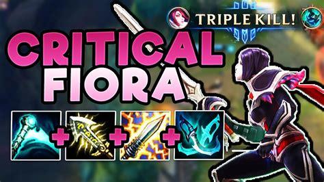 build for fiora new critical fiora build is unbeatable 1 enemy team