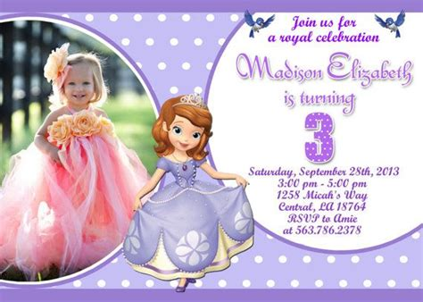princess sofia birthday invitation templates sofia birthday invitations templates