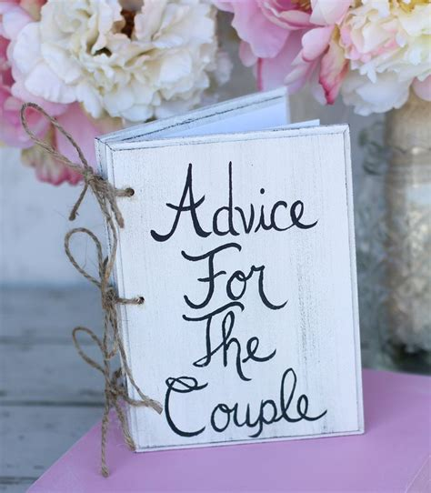 bridal shower guest book shabby chic wedding decor advice