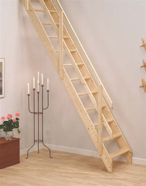 dolle lisbon wooden space saving staircase kit loft stair 24 quot x59 quot opening basement remodel