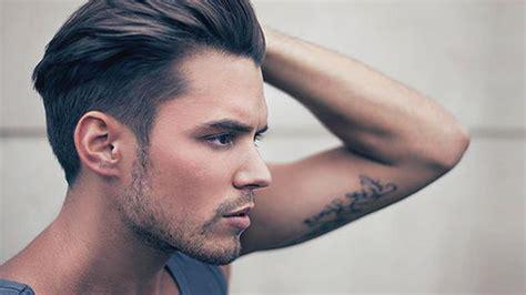 model rambut pria  wajah bulat fashion beauty
