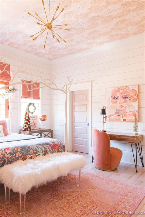christmas decor  addisons coral girls bedroom  shaw floors