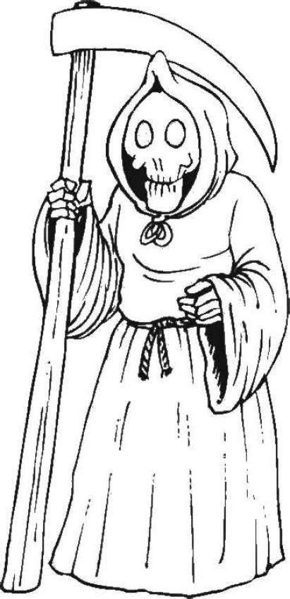 Grim Reaper S Hooded Black Cloack Coloring Pages Grim Reaper Coloring Pages