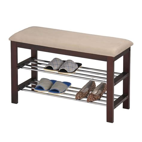 bench with shoe rack kb furniture sr 06 shoe rack bench atg stores