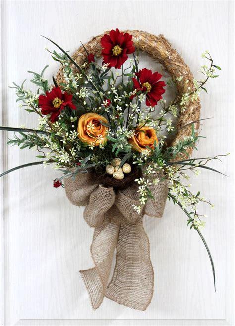 spring wreaths for front door front door wreath straw wreath spring wreath summer