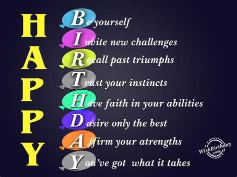 Happy Birthday Wishes For Yourself Be Yourself Happy Birthday Wishbirthday Com