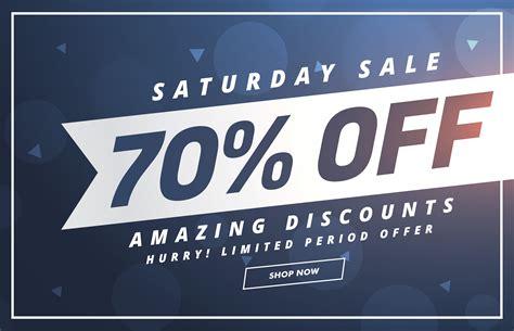 amazing saturday discount  offer template design