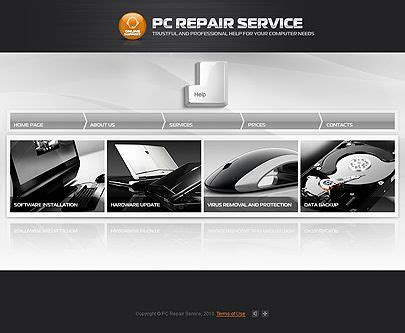20 Best Services Website Templates Images On Pinterest Website Template Design Websites And Computer Repair Template