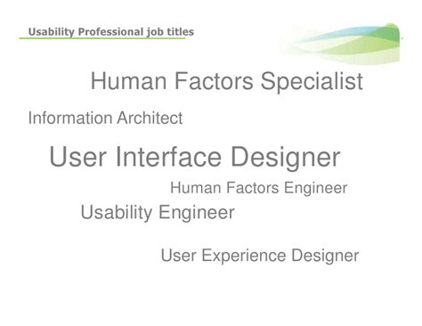 Usability Engineer by Introduction To Usability