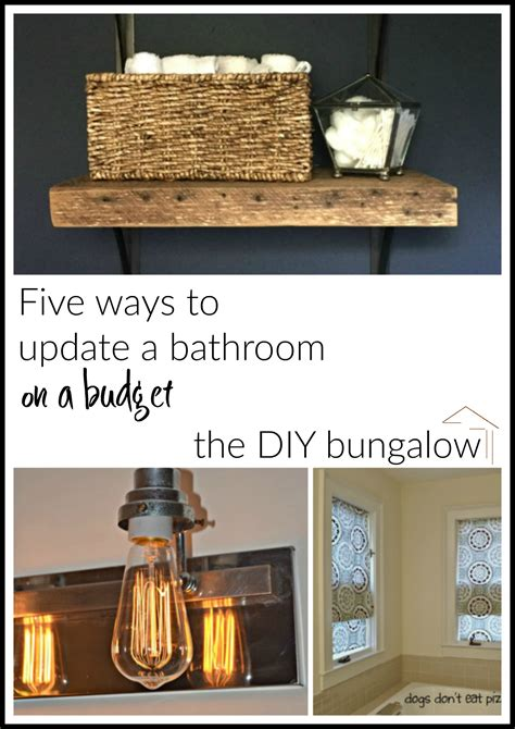 how to update a bathroom five ways to update a bathroom on a budget the friday