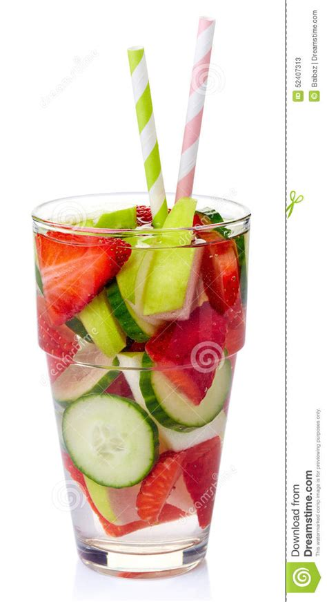 Apple And Cucumber Detox Water by Detox Water Stock Photo Image 52407313