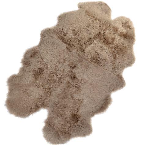luxury sheepskin rug luxury sheepskin rug taupe