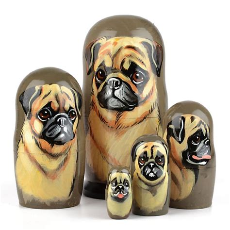 russian pug 1000 images about matryoshkies on folk unique and collectible dolls