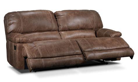 saddle leather reclining sofa durango reclining sofa saddle brown