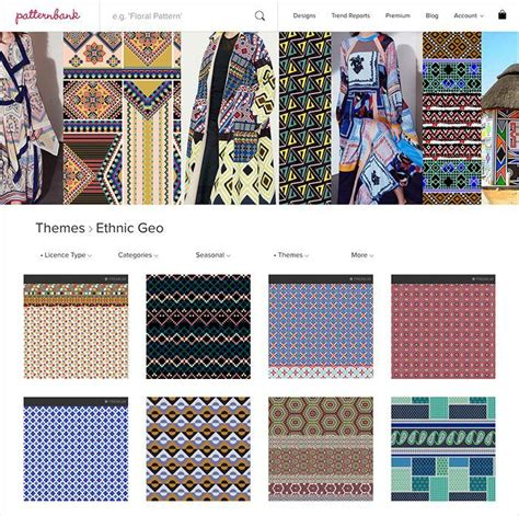 patternbank studio ethnic geo aw1718 hand curated seasonal trend theme on