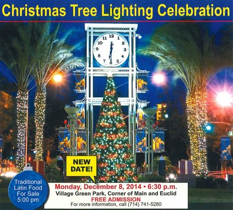 christmas tree lighting postponed city of garden grove