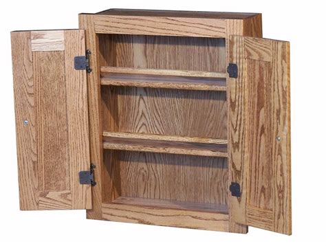Spice Cabinet With Doors American Made Oak Spice Cabinet With Raised Panel Doors