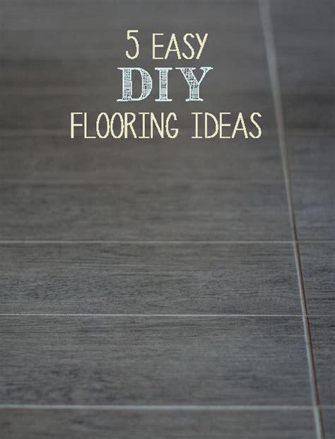 5 Easy DIY Flooring Ideas   Diy flooring, Flooring ideas