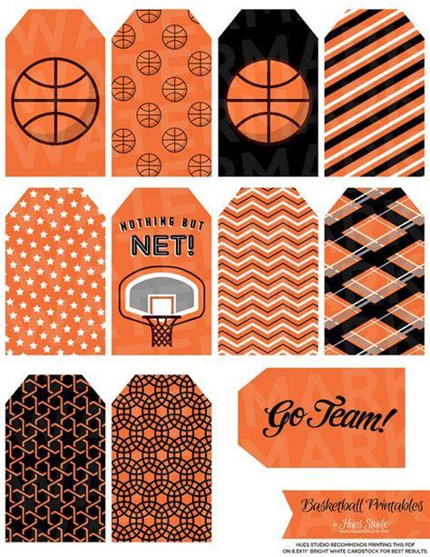 printable basketball tags 13 orange basketball tag printables by hues by