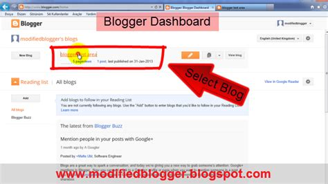 blogger dashboard free blogspot tips tricks setting seo themes templates