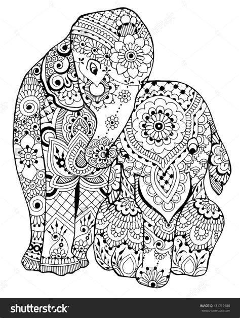 zen coloring pages elephant elephants coloring page i 431719180 shutterstock adult