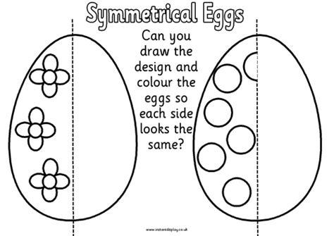 egg pattern worksheet spring symmetry worksheets eggs butterfly flowers by felt