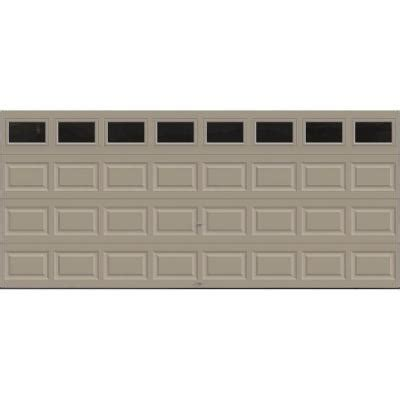 Clopay Premium Series 16 Ft X 7 Ft 18 4 R Value Insulated Garage Doors Home Depot