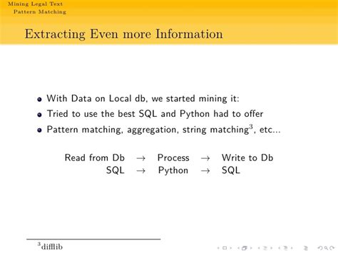 text pattern matching python mining legal texts with python